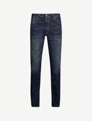 RRL Faded slim-fit skinny jeans