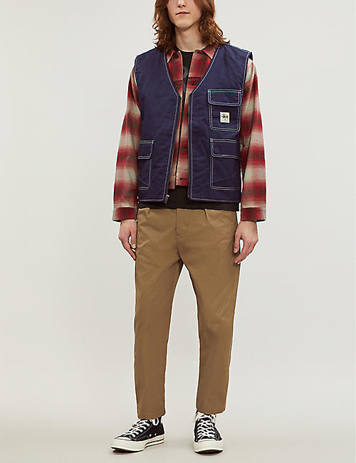 RRL Jackley checked cotton and wool-blend flannel jacket