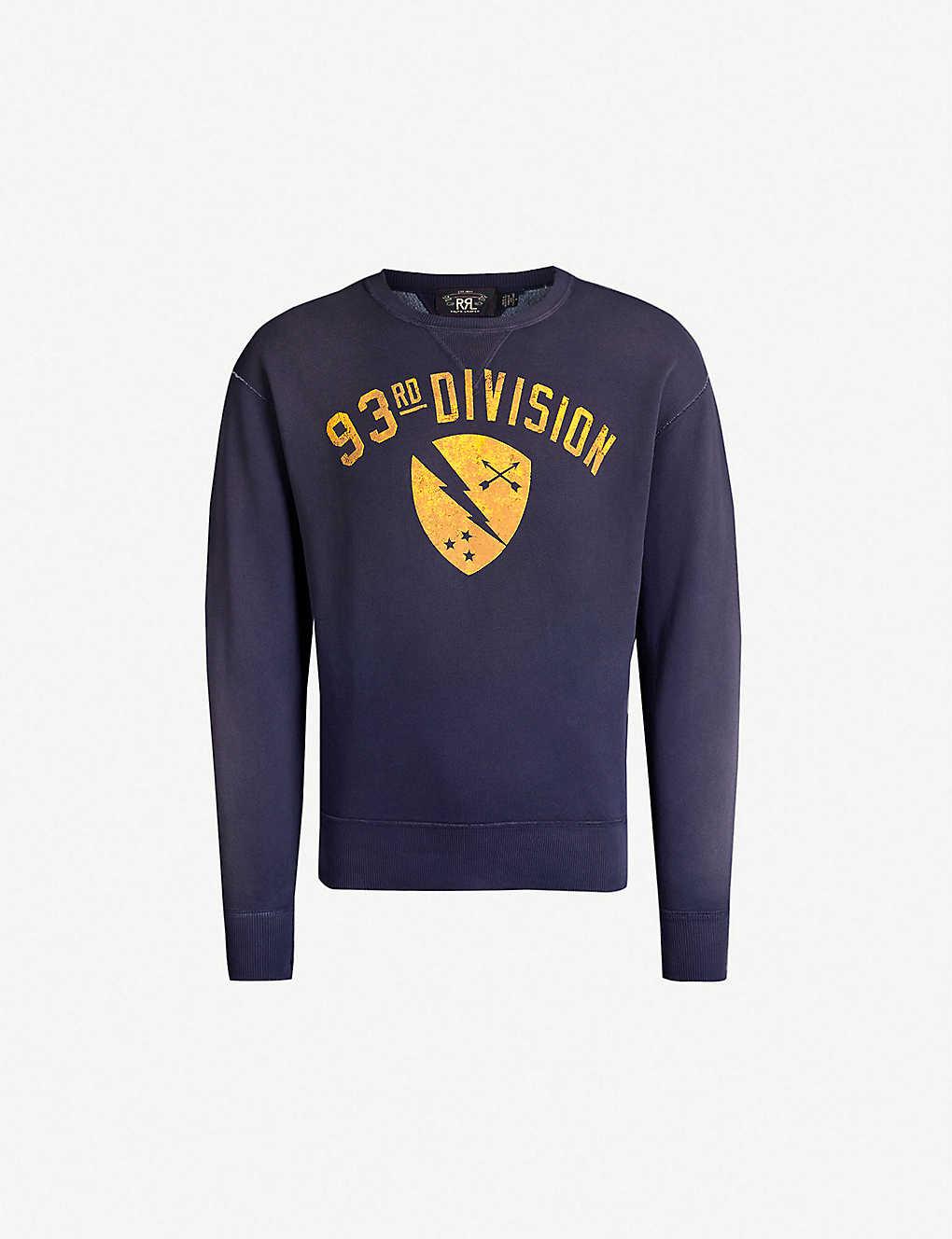 07d57443b RRL - Graphic-print cotton-blend sweatshirt | Selfridges.com