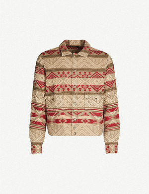RRL Jacquard cotton wool-blend overshirt