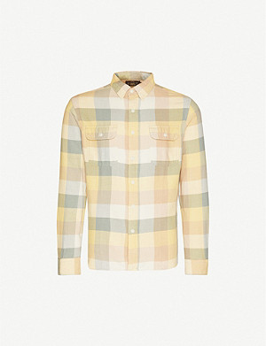 RRL Matlock checked brushed cotton-twill shirt