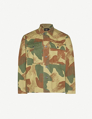 RRL Herrington camouflage-print cotton-canvas shirt