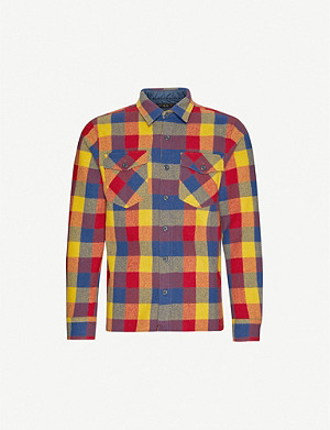 RRL Holt checked wool shirt