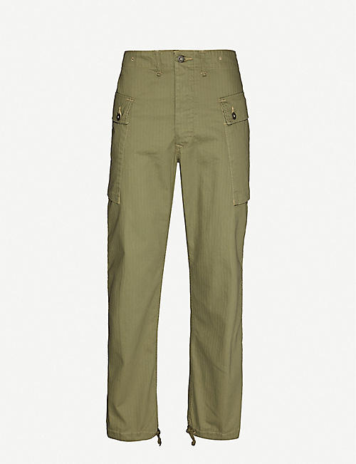 RRL Straight cotton cargo trousers
