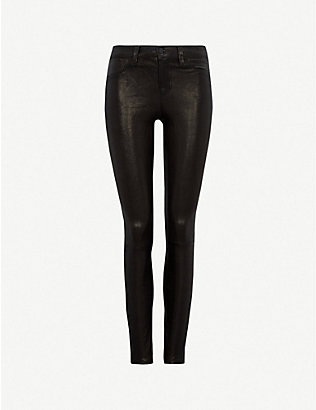 J BRAND: L8001 skinny mid-rise leather leggings