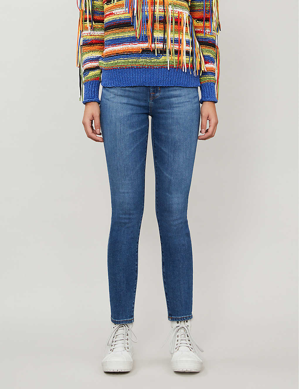 J BRAND: Alana cropped skinny mid-rise jeans