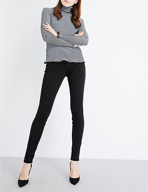 9220cfc49df5 J BRAND 485 Luxe Sateen super-skinny mid-rise jeans