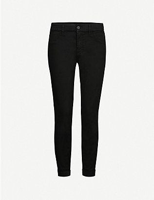 J BRAND: Anja mid-rise cropped skinny jeans