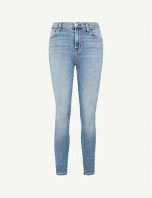 J BRAND Maria high-rise ripped skinny jeans
