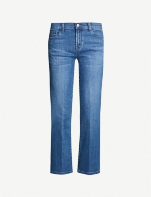 J BRAND Selena bootcut cropped mid-rise jeans