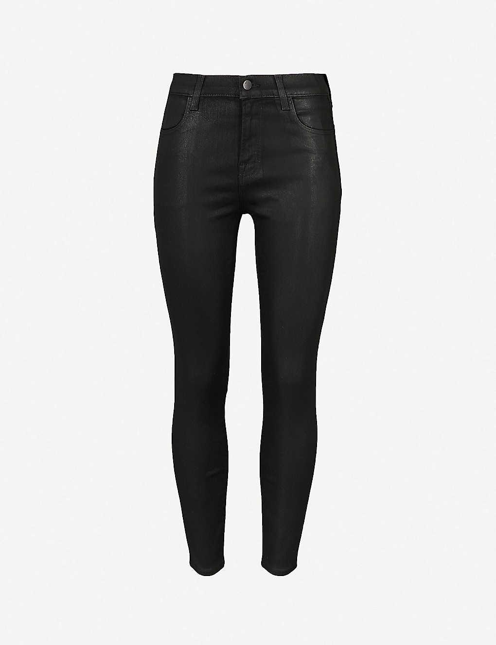 bed33c9852d J BRAND - Alana coated skinny cropped high-rise jeans   Selfridges.com