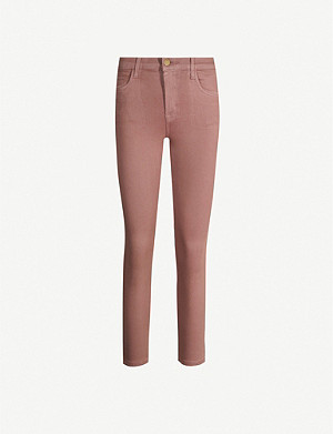 J BRAND Ruby cropped stretch-cotton-blend trousers