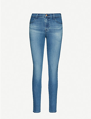 J BRAND: Maria slim-fit skinny high-rise jeans