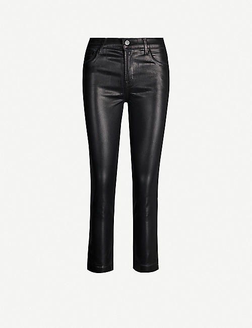 J BRAND Ruby Cigarette coated straight high-rise jeans
