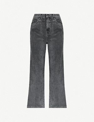 J BRAND Joan high-rise wide-leg crop corduroy jeans