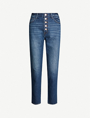 J BRAND Heather high-rise cropped straight-leg jeans