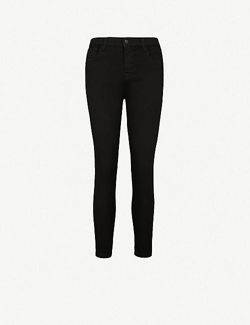 J BRAND: Ruby cropped high-rise cigarette skinny jeans