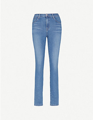 J BRAND: Ruby high-rise cigarette jeans