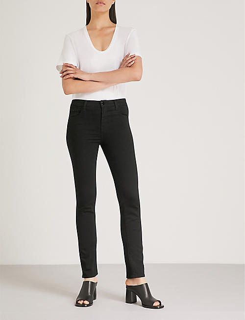 J BRAND Ruby slim-fit cigarette cropped high-rise jeans