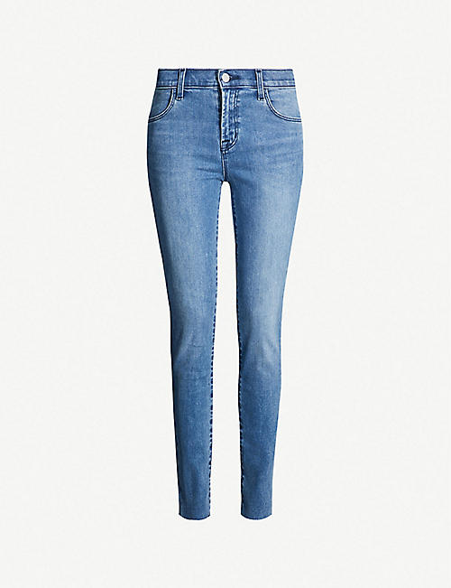 J BRAND Maria mid-rise skinny jeans