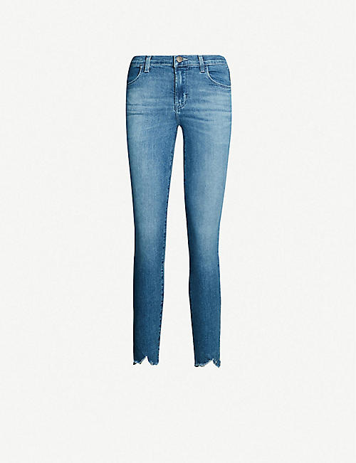 73743a61c254f J BRAND Alana cropped high-rise faded skinny jeans