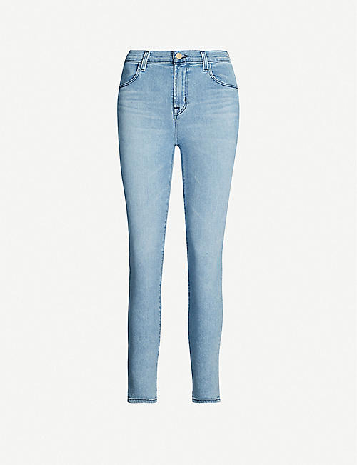 J BRAND Alana cropped high-rise faded skinny jeans