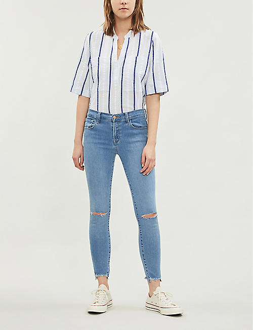 3cb19c3b5ab09 J BRAND 835 ripped cropped skinny mid-rise jeans