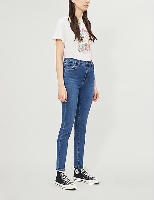 d18189220325b J BRAND Leenah cropped faded skinny high-rise jeans