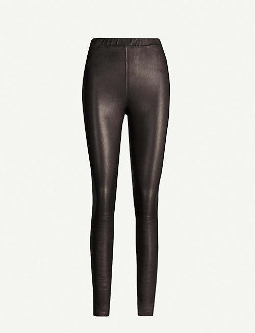 J BRAND Macy high-rise leather skinny trousers