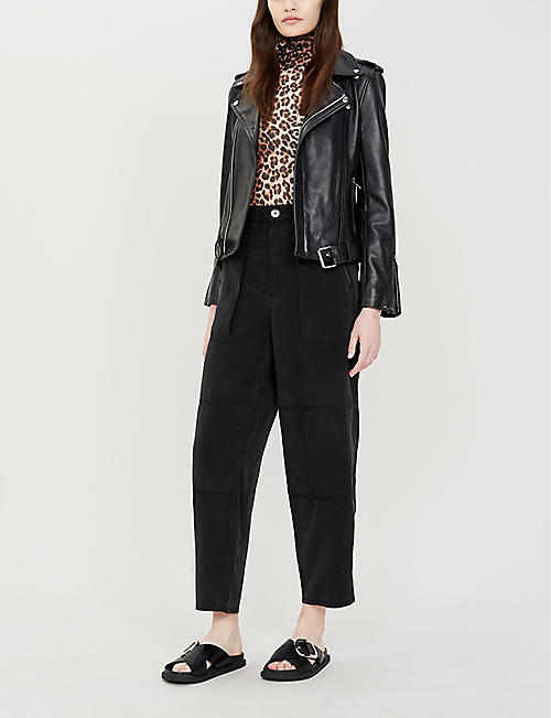 J BRAND Noelle high-rise straight-leg lyocell trousers