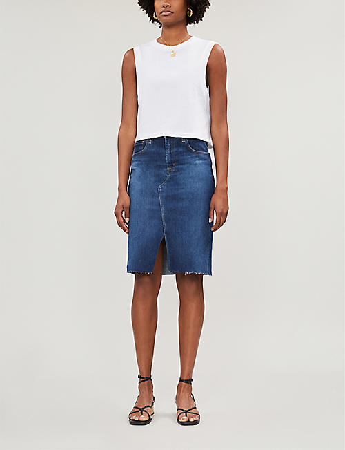 J BRAND Trystan fitted denim skirt