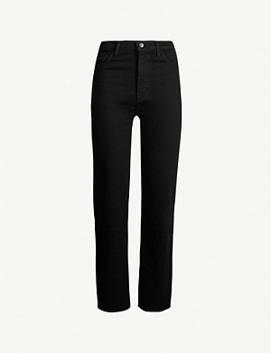 J BRAND Jules straight high-rise jeans