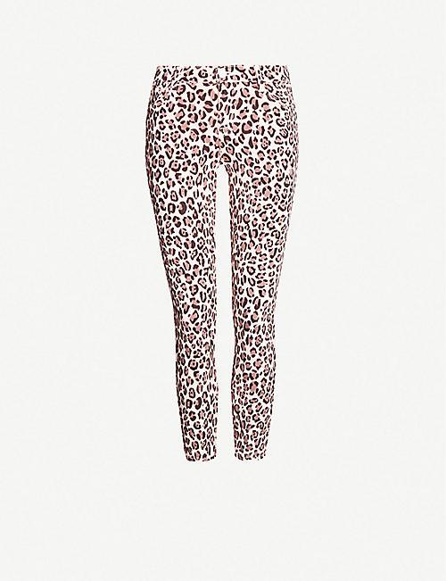 4ddc5b207c10 J BRAND Jaguar-print mid-rise cropped skinny jeans