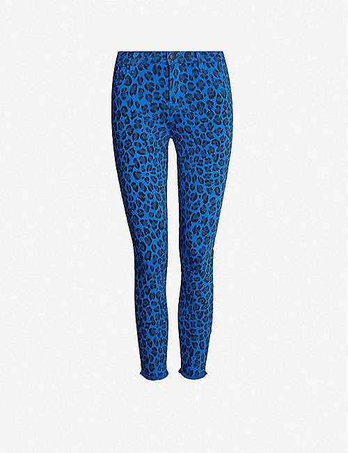 591ae690674f J BRAND Jaguar-print mid-rise cropped skinny jeans