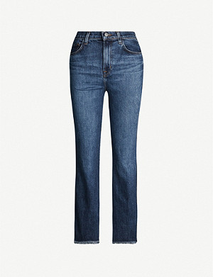 J BRAND Julia high-rise cropped wide-leg jeans