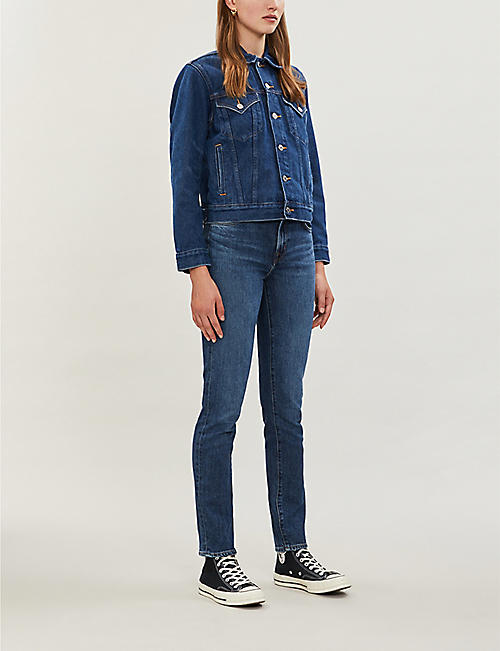 J BRAND Ruby high-rise cropped straight-leg jeans
