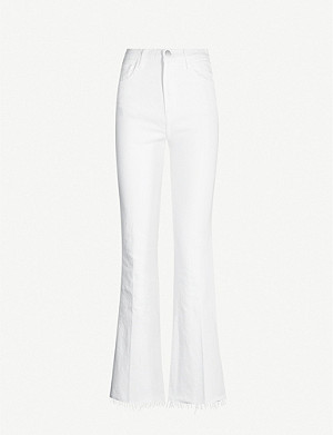 J BRAND Julia cropped high-rise flared jeans