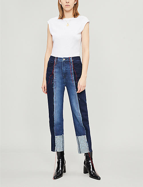829d47001f8f6 J BRAND J Brand x Kozaburo Sapphire high-rise straight-leg jeans