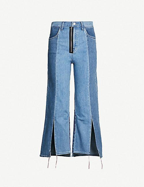 5dfdb1f1041 J BRAND J Brand x Kozaburo Pennylane high-rise faded flared jeans