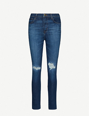 J BRAND Leenah high-rise skinny stretch-denim jeans