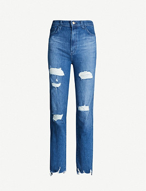 J BRAND Jules distressed high-rise jeans