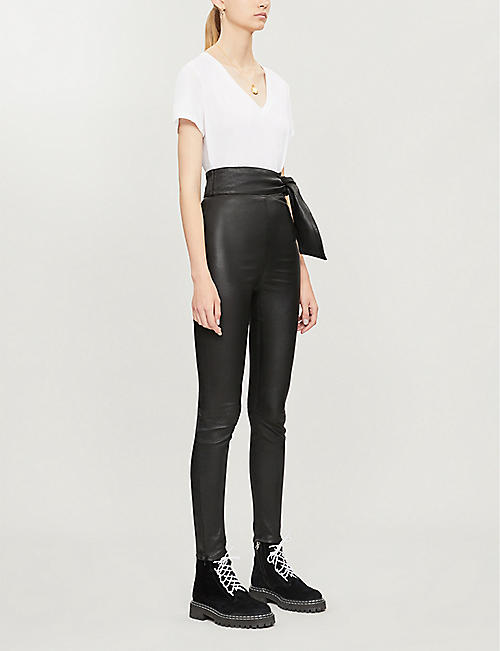 J BRAND J BRAND x Elsa Hosk Friday high-rise leather leggings
