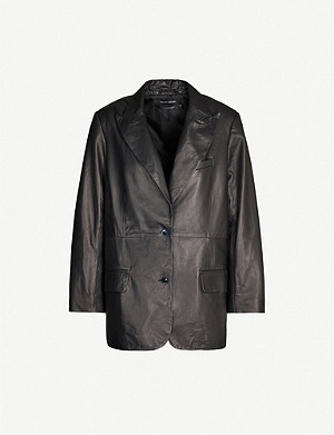 J BRAND J BRAND x Elsa Hosk Birthday single-breasted leather blazer