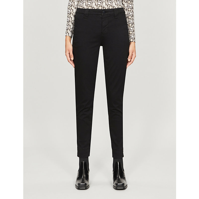 J Brand Cottons PAZ CROPPED SKINNY COTTON-BLEND TROUSERS