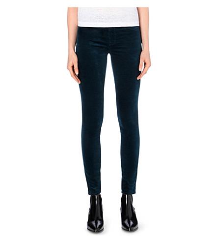 d6e058a59ff43 J BRAND 815 Velvet super-skinny mid-rise jeans (Emerald