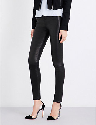 J BRAND: Maria skinny leather jeans