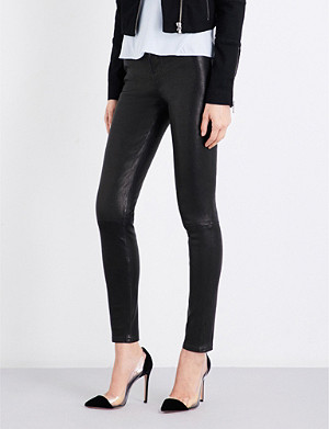 J BRAND Maria skinny leather jeans