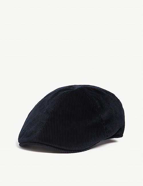 BATES HATS Roma corduroy flat cap 5771995deb26