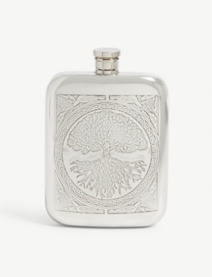 ENGLISH PEWTER COMPANY Celtic Tree of Life hipflask