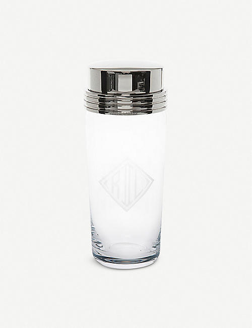 RALPH LAUREN HOME Bentley glass and brass cocktail shaker 20cm